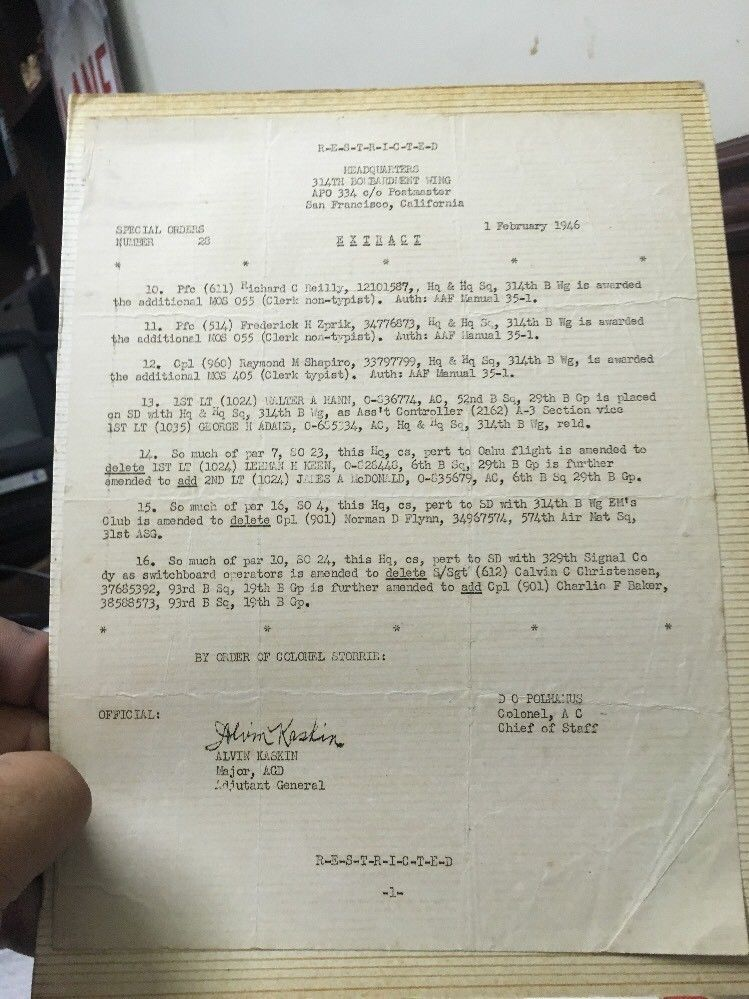Lot Vintage Ww2 Ww11 Era Us Army Honorable Discharge Certificate
