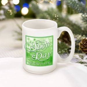 Great Unique Personalized Gift Ideas. Green Snow Day Coffee Mug http://www.greatuniquegiftideas.com/product/green-snow-day-coffee-mug/ Check more at http://www.greatuniquegiftideas.com/product/green-snow-day-coffee-mug/