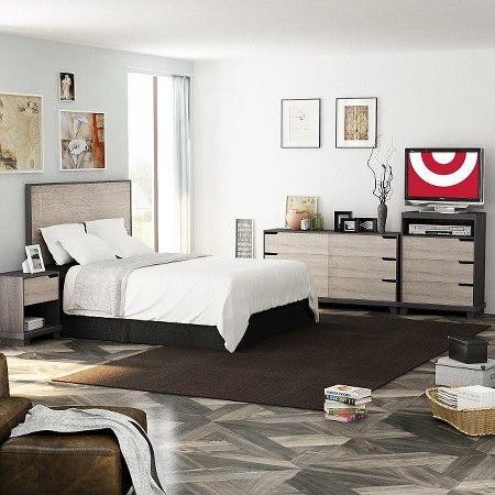 Stockholm Bedroom Collection Sonoma/Java Brown   Homestar Furniture : Target