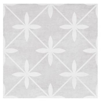 Wicker Dove Beige 33cm X 33cm Floor Tile Grey Floor