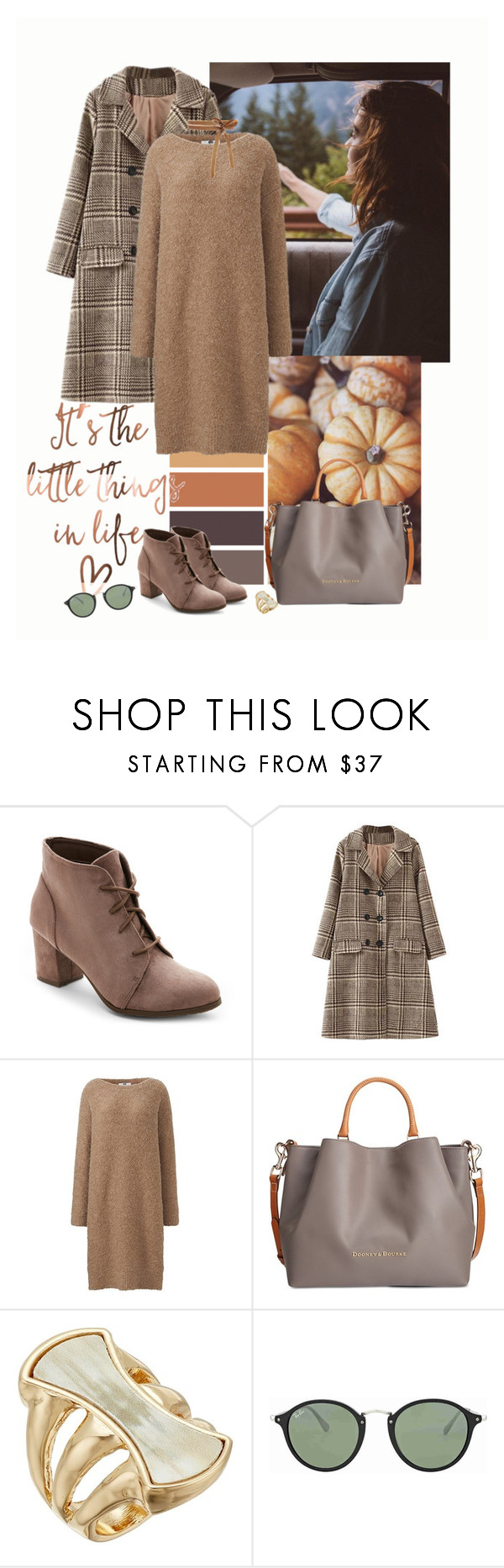 """""""That coat again"""" by fivana ❤ liked on Polyvore featuring Madden Girl, Uniqlo, Dooney & Bourke, Robert Lee Morris and Ray-Ban"""