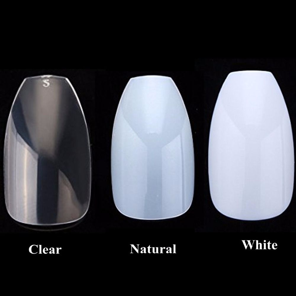 Wholesale 100bags /Lot Coffin Nails Ballerina Nail Tips Full Cover ...