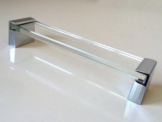 6 3 Glass Kitchen Cabinet Door Handles Dresser Pulls Drawer Pull Handles Silver Chrome Pulls Furniture Handle Modern Clear Hardware 160 Mm Kitchen Cabinet Door Handles Cabinet Door Handles Glass Kitchen Cabinets