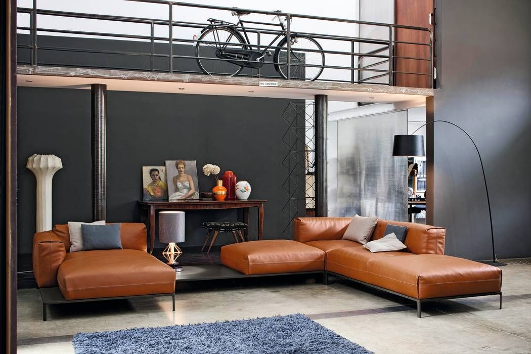 Industriale Wohnzimmer Bilder von IMAGO DESIGN | Industrial design ...