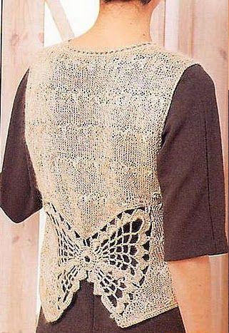 Chaleco Mariposa Patron - Patrones Crochet | Tejidos | Pinterest ...