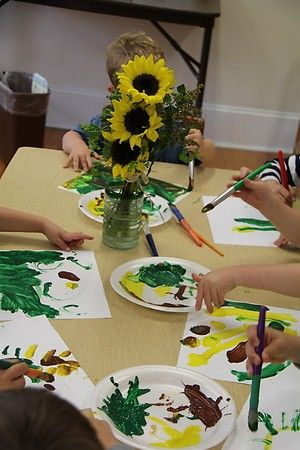Chasing Cheerios Painting Sunflowers Like Van Gogh Fine