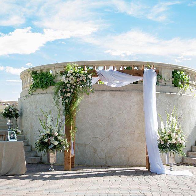 Outdoor Wedding Ceremony Calgary: #WeddingSM #Altar #YYCWedding