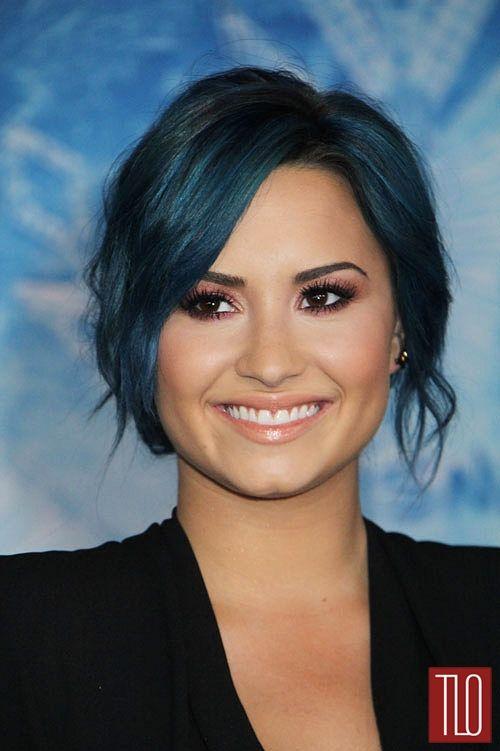 "Love the blue hair. (Demi Lovato in Altuzarra at the ""Frozen"" Hollywood Premiere | Tom & Lorenzo)"