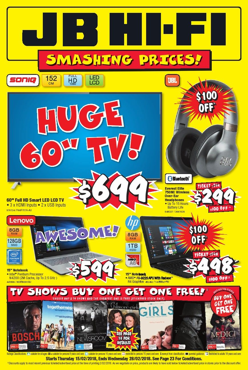 JB Hi Fi Catalogue Smashing Price 12th March 25th March