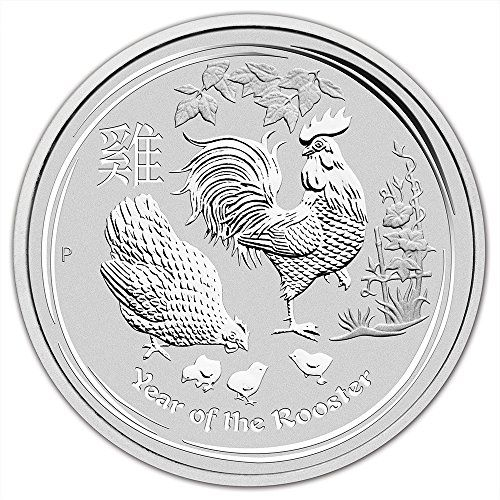 2017 Year of the Rooster Australia Lunar Series $1 Uncirculated Coin