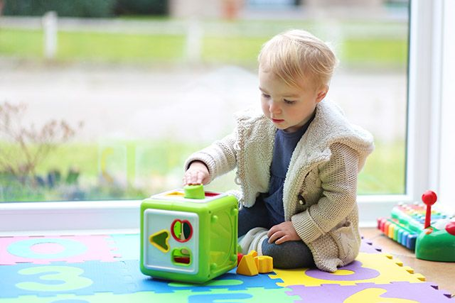 Baby Toys 2 Years Old : Baby development playing together with toys http
