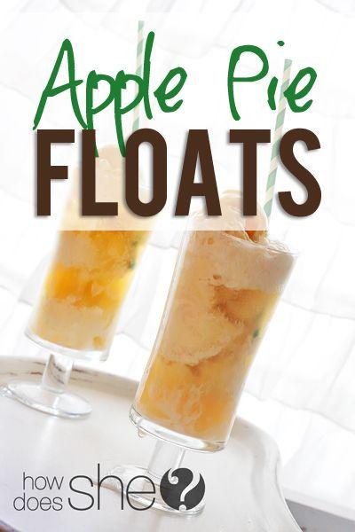 Apple Pie Ice Cream Floats Food Ice Cream Floats Apple Pie
