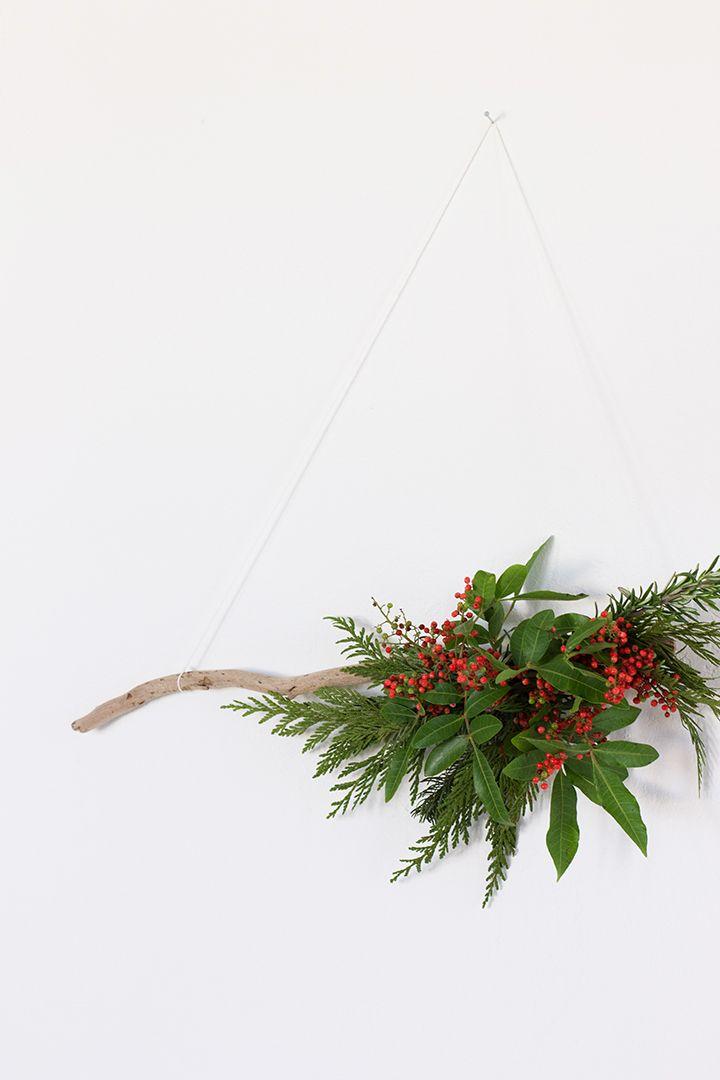 DIY Modern Greenery Wreath