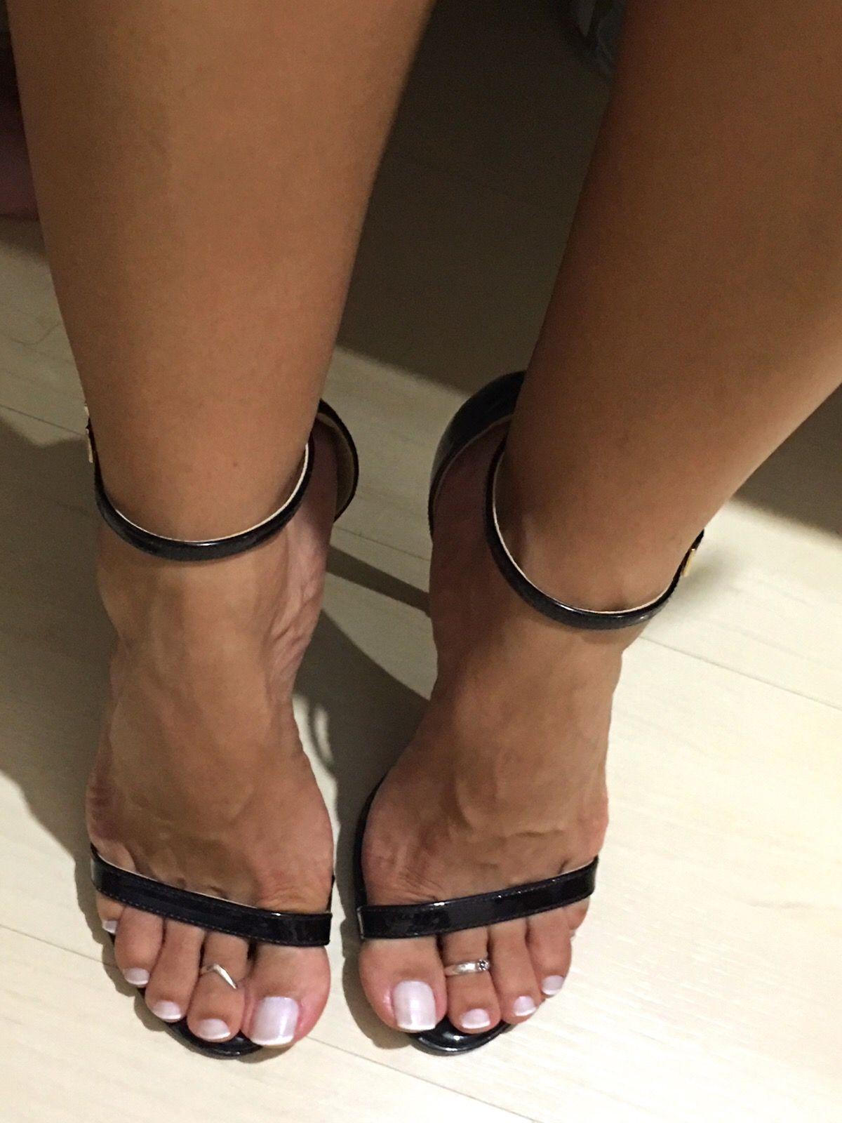 Brunette Teen Black Stockings