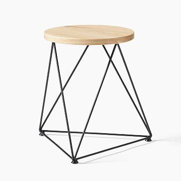 Amigo Modern Octahedron Table Stool In 2020 Stool Table Modern