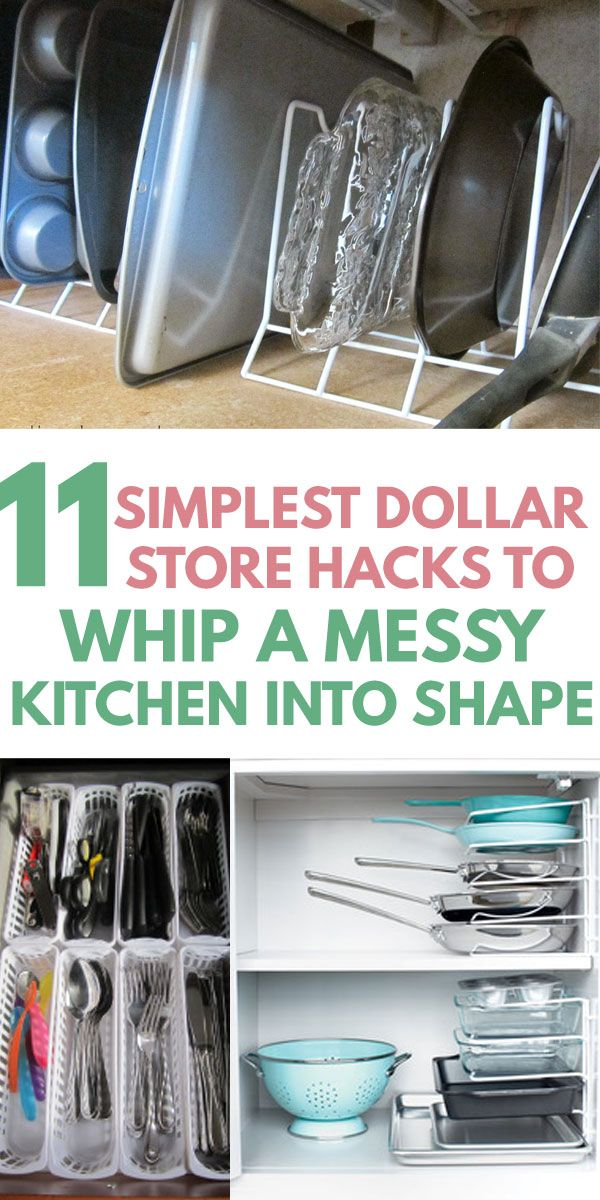 How to Declutter Your Kitchen with Dollar Store Organization Hacks -   19 dollar store pots