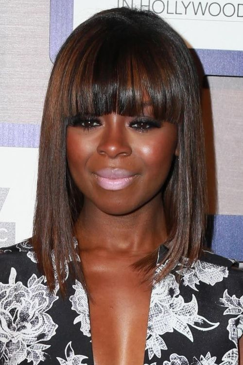 Brilliant 20 Black Hairstyles With Bangs Oozing Mismatched Chic Hairstyles Hairstyles For Women Draintrainus