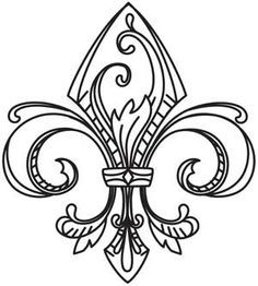 Fleur De Lis Color Pattern And Designs Google Search Embroidery Designs Embroidery Patterns Vintage Urban Threads