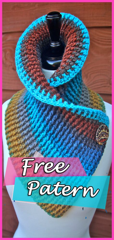 Sassy Autumn Ribbed Cowl Free Crochet Pattern Scarf | knitting and ...