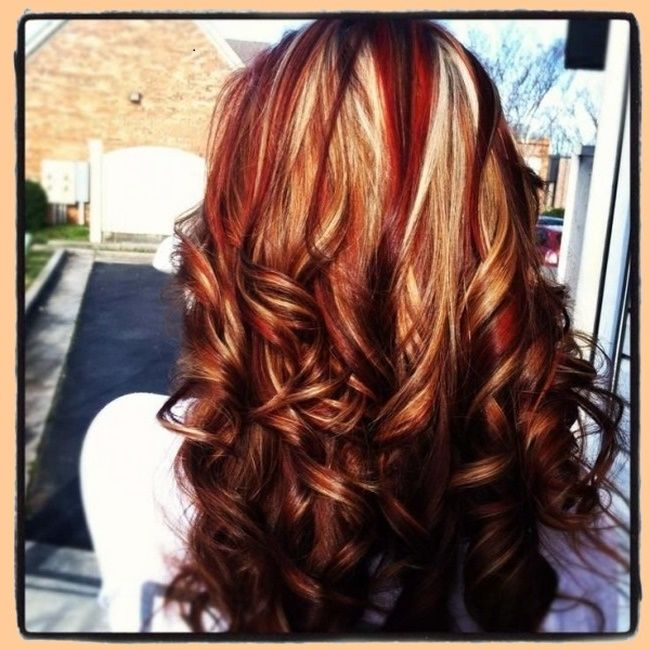 brown hair with caramel highlights and red lowlights - Google ...