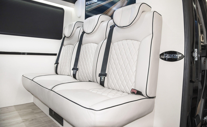 Custom Interior Mercedes Benz Sprinter Van Conversion Luxury Mobile Offices Sprinter Van Sprinter Van Conversion Van Conversion Luxury