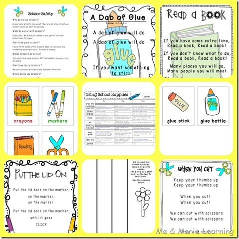 school supplies use preschool lesson plan School theme - preschool lesson plan