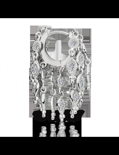 "1/4"" Diamond Tassel Eternity Ring (Helix) http://www.venusbymariatash.com"