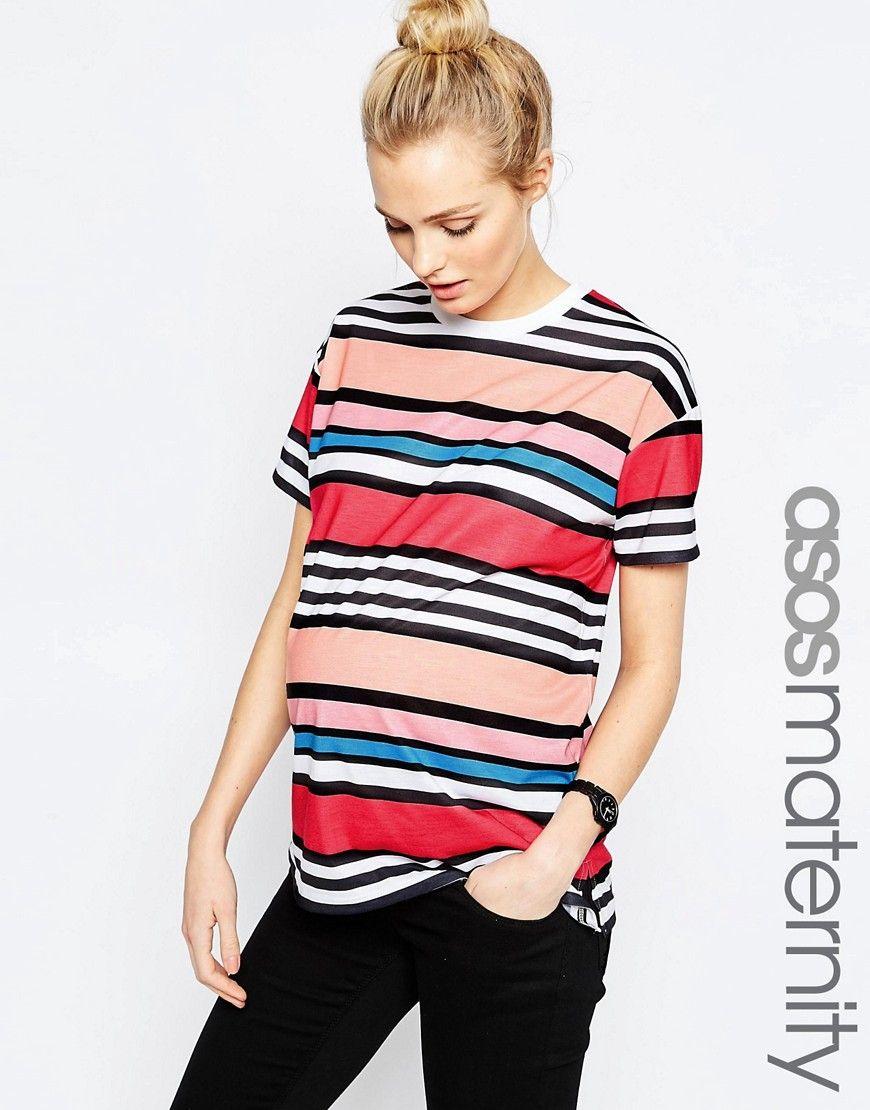 db0a85ad2e823 Maternity Rainbow Stripe T-Shirt   Maternaty Fashion   Asos ...