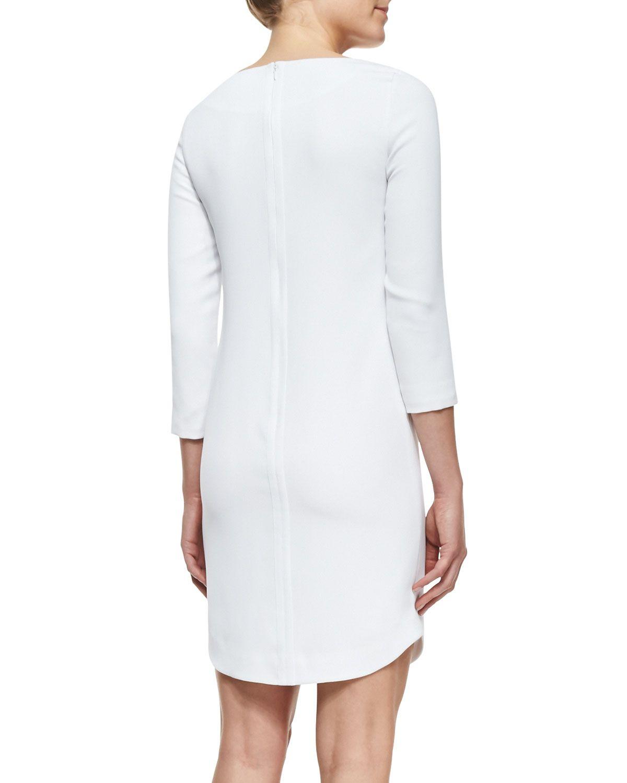 Bracelet-Sleeve Ponte Dress