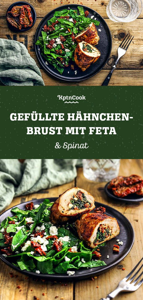 Photo of Stuffed chicken breast with feta and spinach
