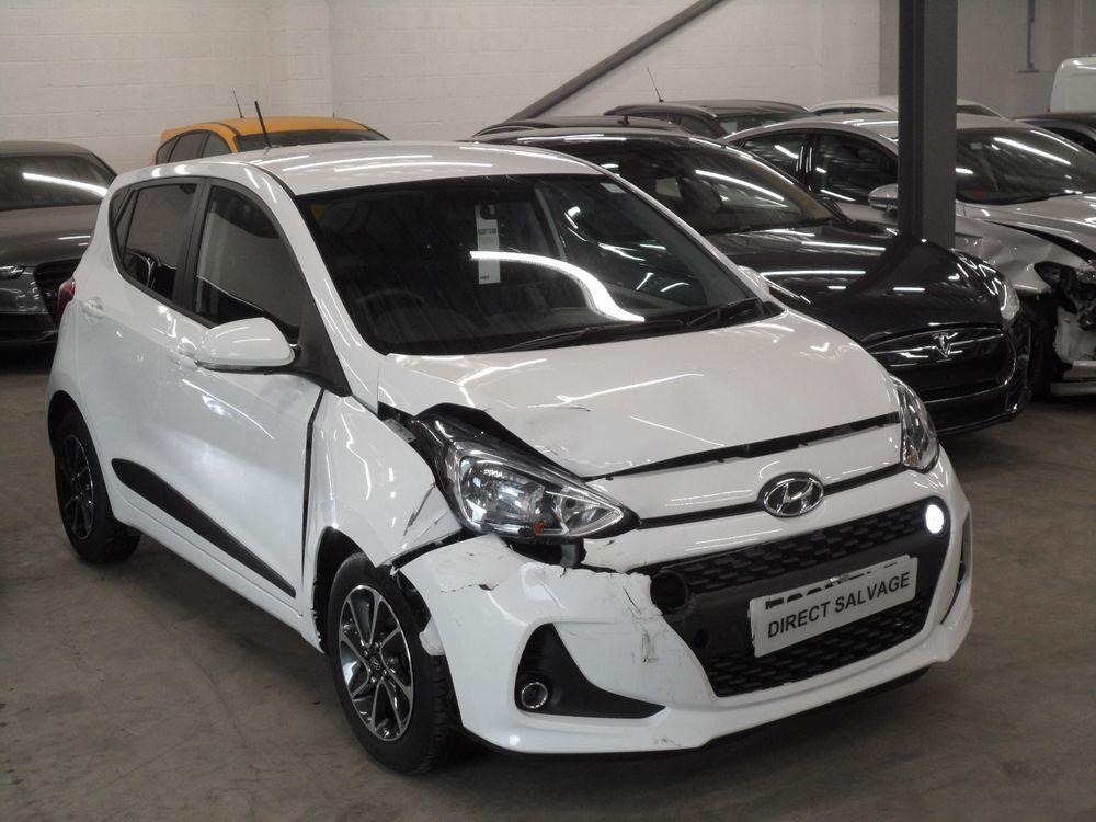 Ebay 2017 67 Reg Hyundai I10 Premium 1 0 Petrol White Salvage