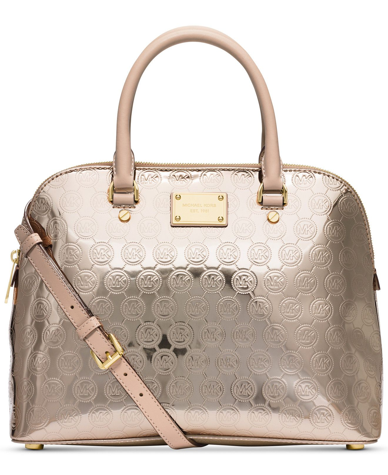 MICHAEL Michael Kors Cindy Large Dome Signature Satchel - MICHAEL Michael  Kors - Handbags \u0026 Accessories