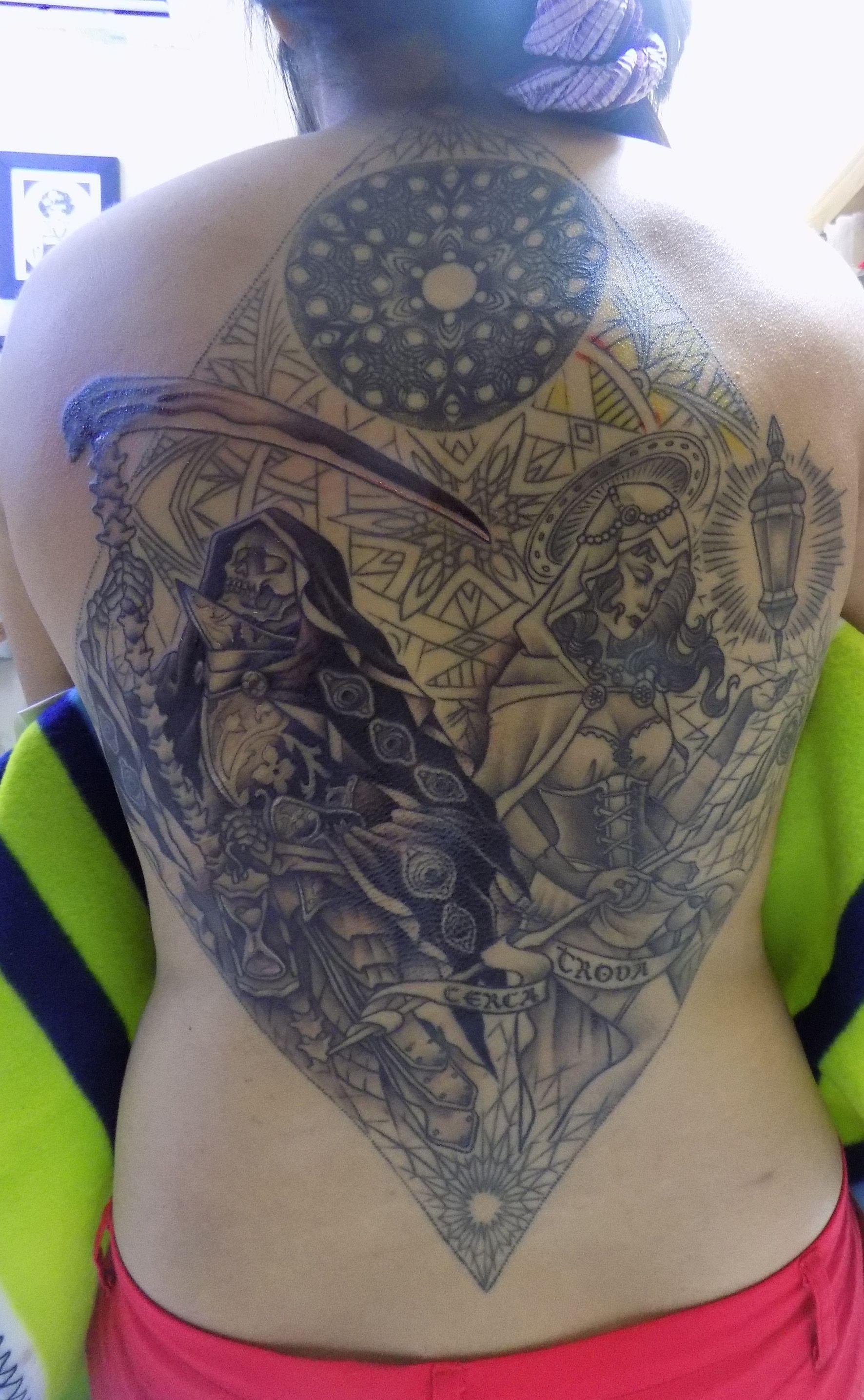 Still One More Session To Go Tattoo Artist Mulie Addlecoat Thinking Tree Tattoo Jakarta Indonesia