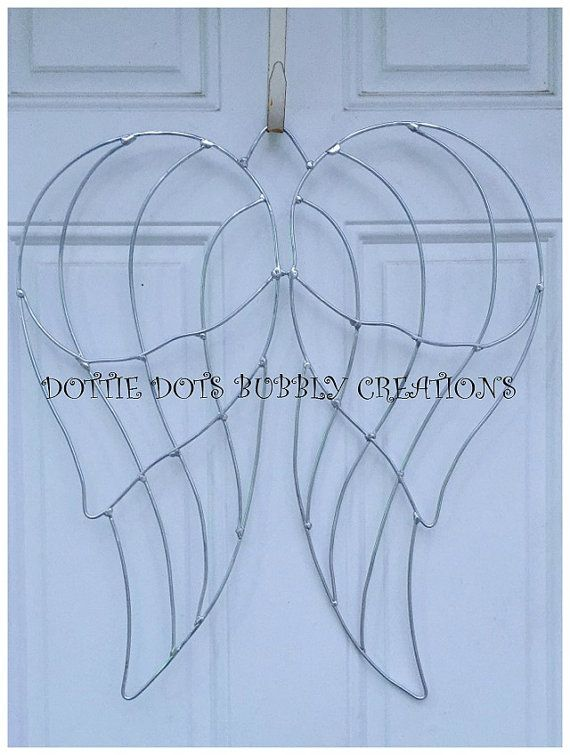Angel Wings Wire Wreath Form | buy | Pinterest | Wire wreath forms ...