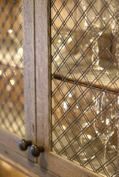 Love The Wire Mesh In This Wine Cabinet Door.