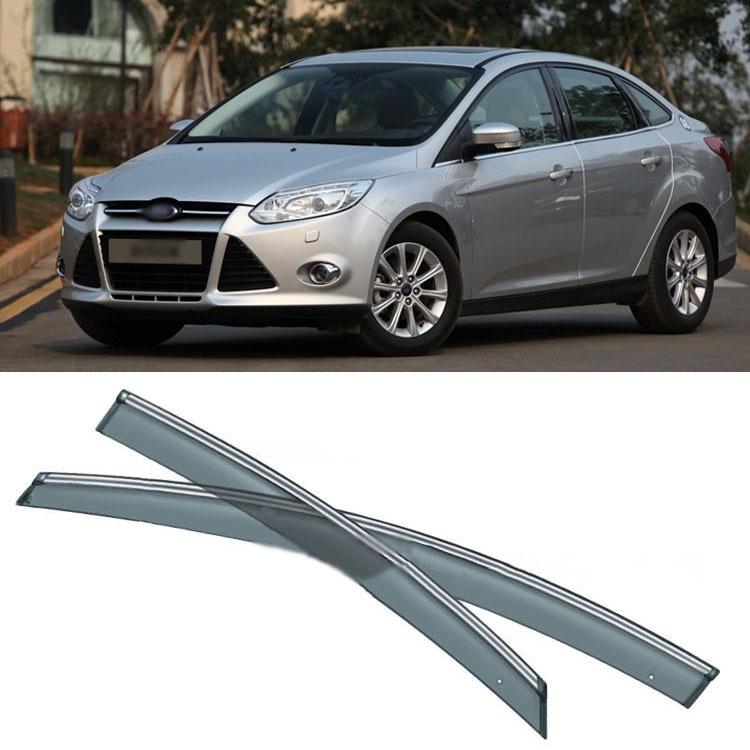 (89.99 ) Watch here - 4pcs Blade Side Windows Deflectors Door Sun Visor  Shield For Ford Focus 2012-2013 249320b079e