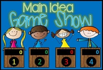 Main Idea  Jeopardy Style Game Show  Common Cores Students And