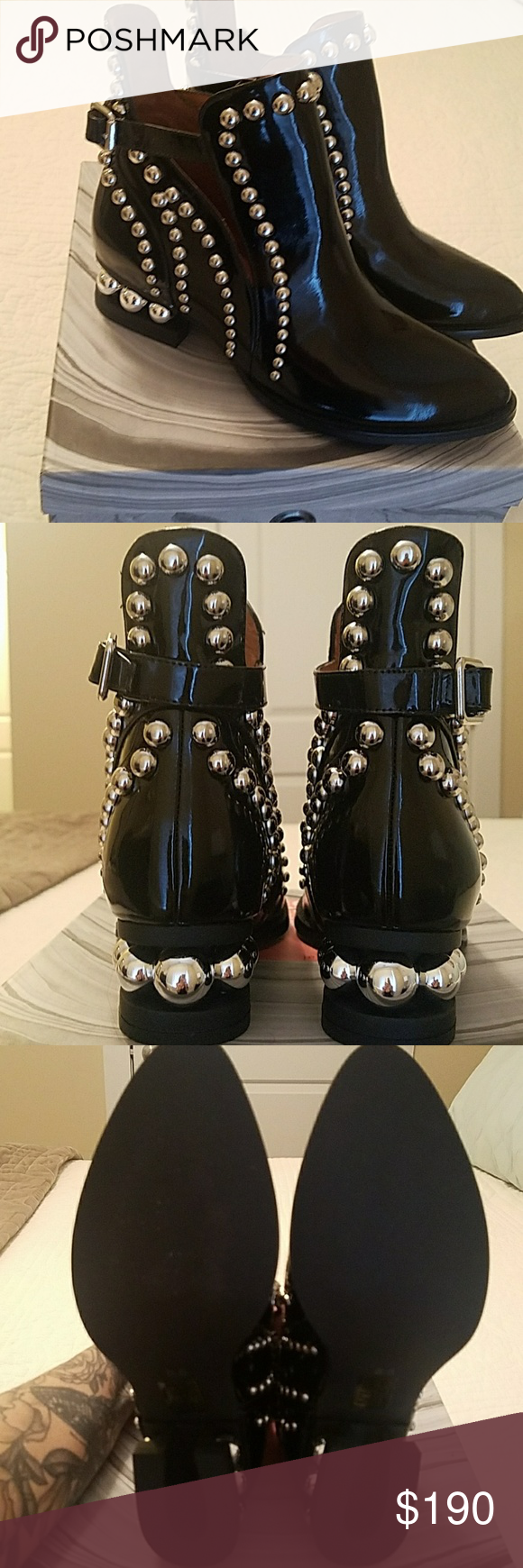 NIB Jeffrey Campbell Rylance-MB Boots Beautiful patent leather 0caa0ca2d