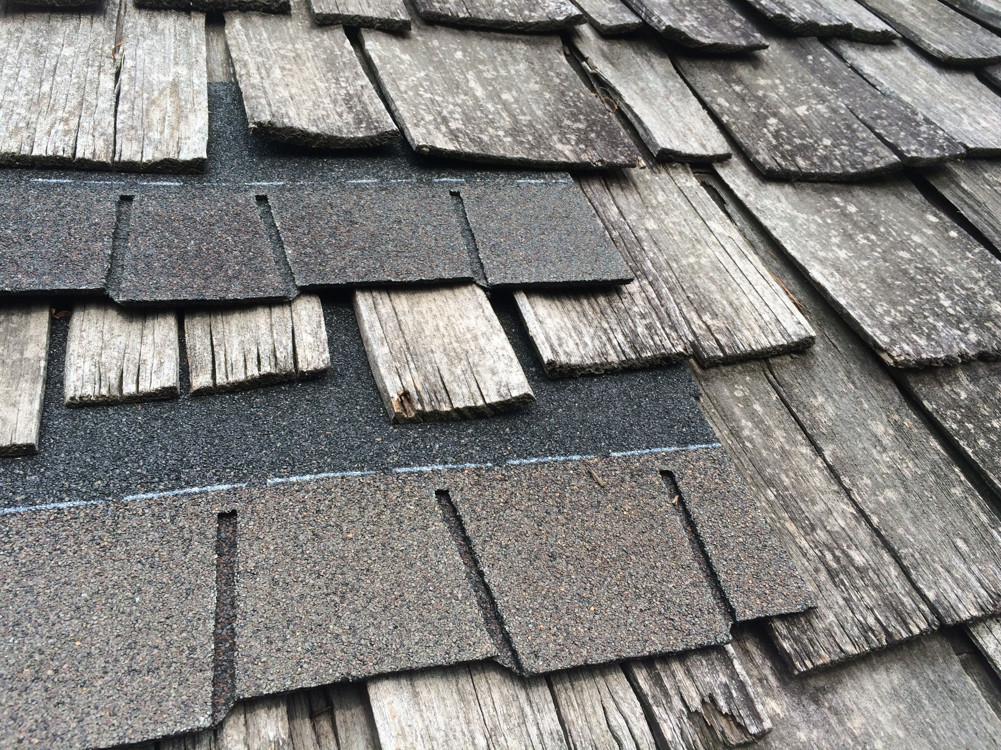 Gaf glenwood shingles are the most authentic wood shake for Roofing tar on shingles