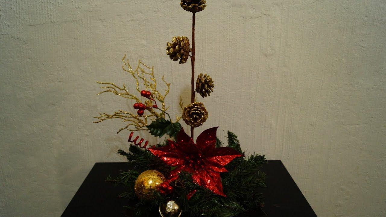 C mo hacer un lindo centro de mesa para navidad adornos - Preparar mesa navidad ...