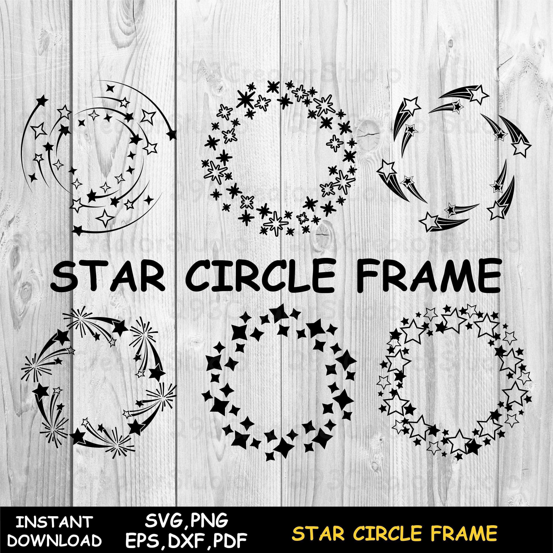 Firework Svg Star Svg Star Circle Frame Star Monogram Svg Etsy In 2020 Circle Frames Star Svg Monogram Frame