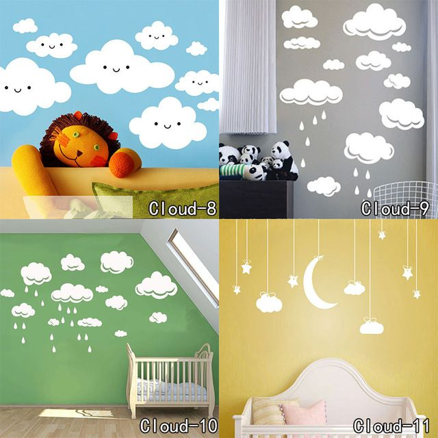 Check lastest price Beautiful Cloud Wall Decal Clouds Sticker - Kid ...