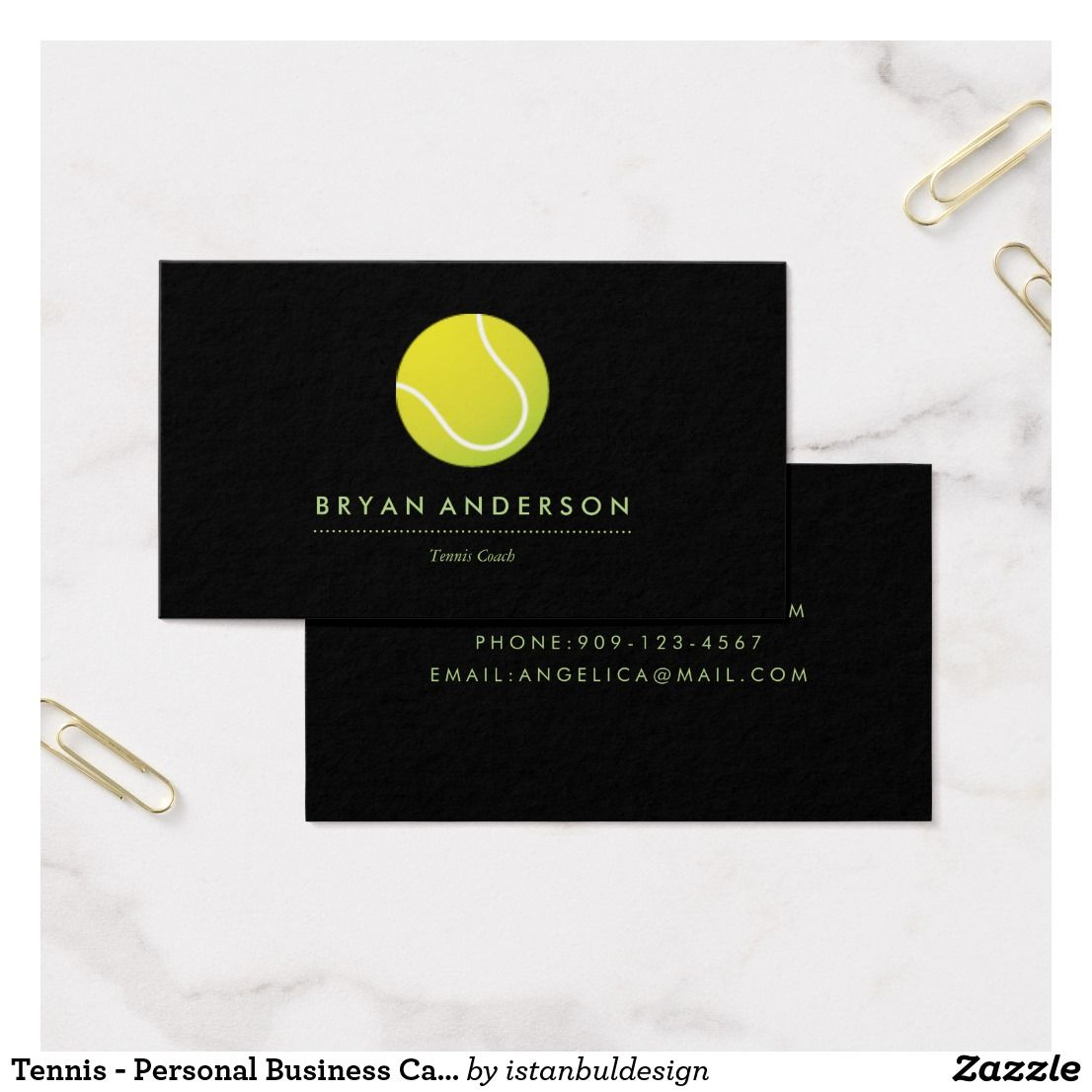 Tennis - Personal Business Card   Business cards and Business
