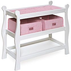 Badger Basket Sleigh Style Doll Changing Table Ping S On