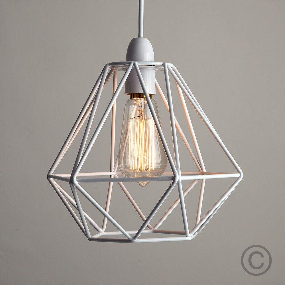 Lamp Shades For Ceiling Lights: Details About Modern Industrial Caged Metal Ceiling