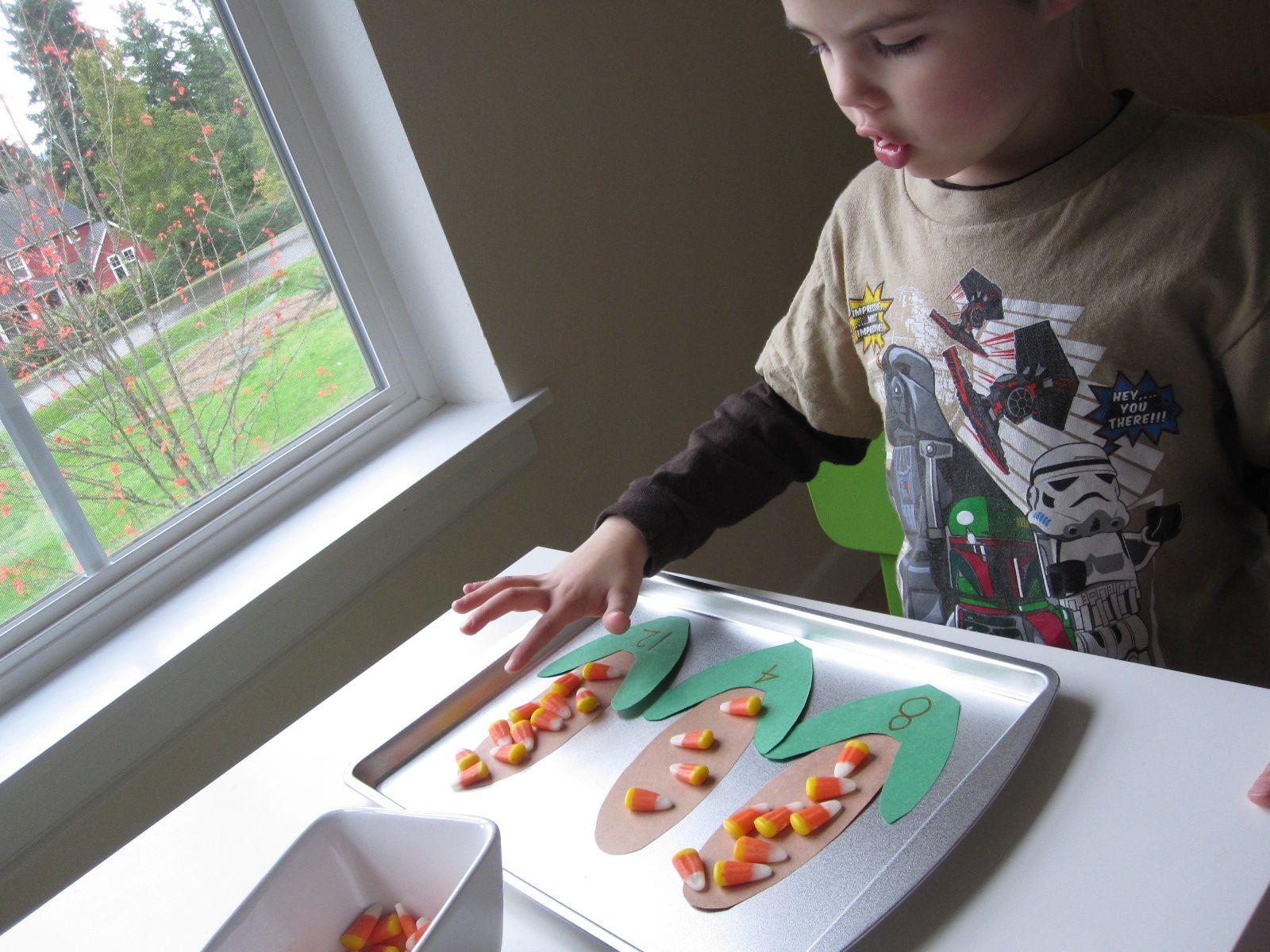 Candy Corn Counting Math activities, Fun math, Fall