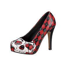 6e51a0e54a1a40 228x228 iron-fist-skulls-pumps-high-heels-rot-schwarz-schottenkaro ...