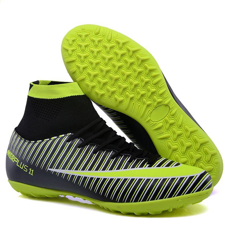 FANCIHAWAY TF chuteiras de futebol de salão homens FG Alta Tornozelo futebol  futebol Turf superfly futbol Sport Shoes Tênis futbol 11 f4a7229129d63