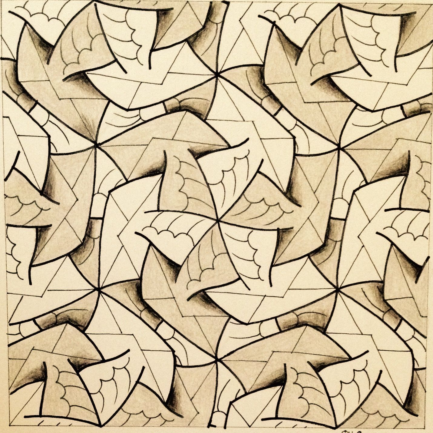 Escher #Tessellation #Tiling #MC_Escher #Geometry #Symmetry My ...