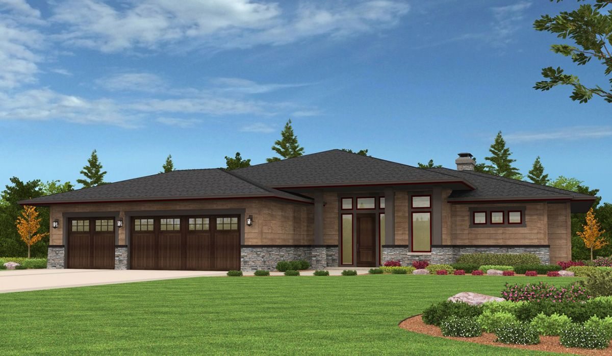 Plan 85126ms 4 bed prairie ranch home with walkout for Contemporary house plans with walkout basement